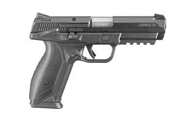 "Ruger, American, Semi-Automatic, Striker Fire Pistol, 45 ACP, 4.5"" Barrel, Polymer Frame, Black Finish, Ambidextrous Safety & Slide Stop, Novak LoMount Carry 3 Dot Sights, 2 Magazines, 10 Rounds"