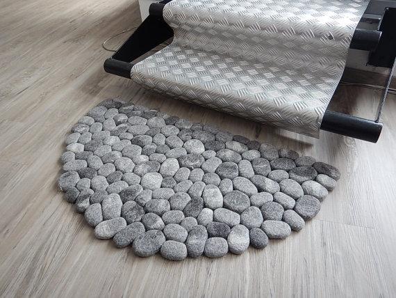 Felt Stone Area Rugs