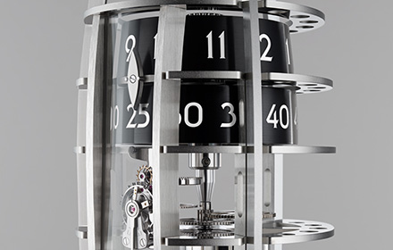 A Table Clock Which Shoots for the Moon