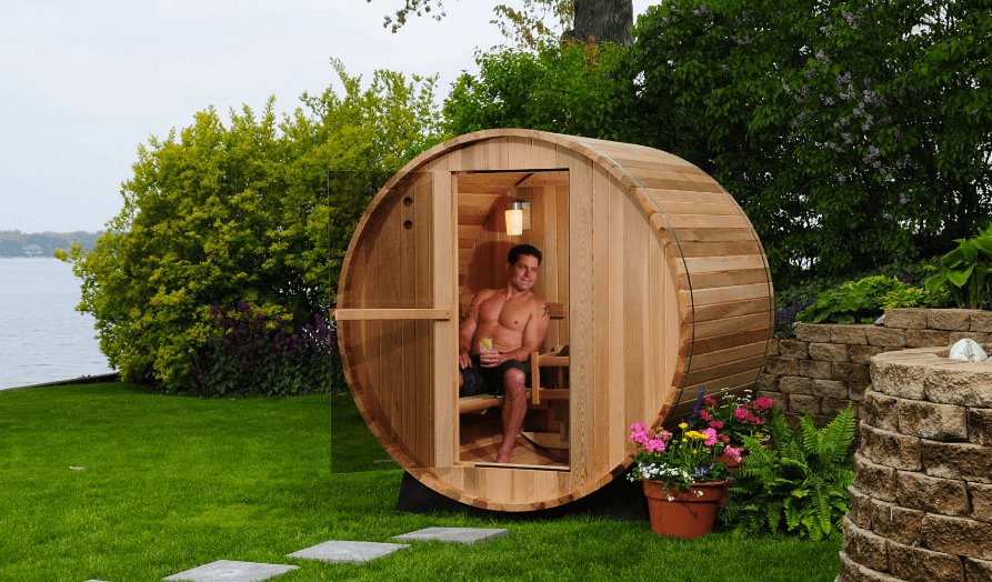 Outdoor Barrel Sauna by Almost Heaven Saunas