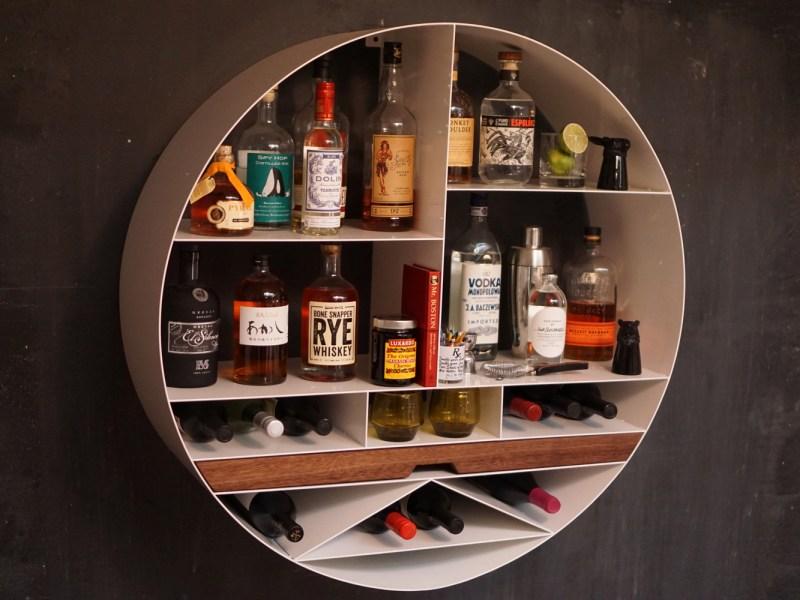 Sean Woolsey Libation Station Liquor Cabinet