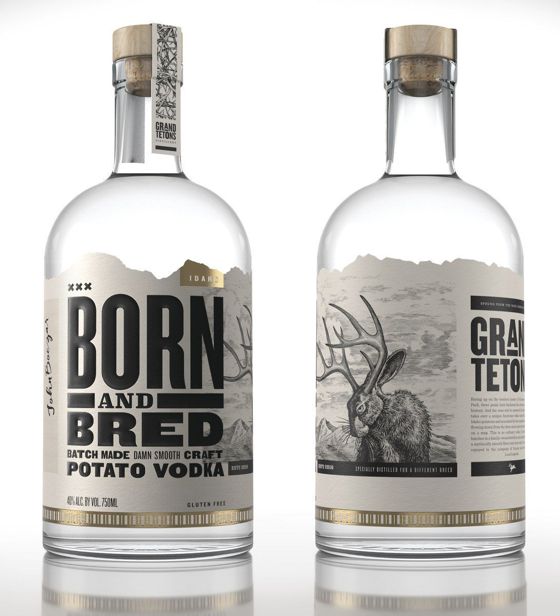 Born and Bred Vodka Bottle