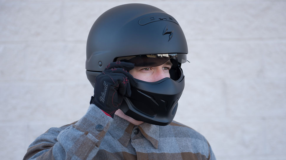 Scorpion Exo Covert Motorcycle Helmet Man