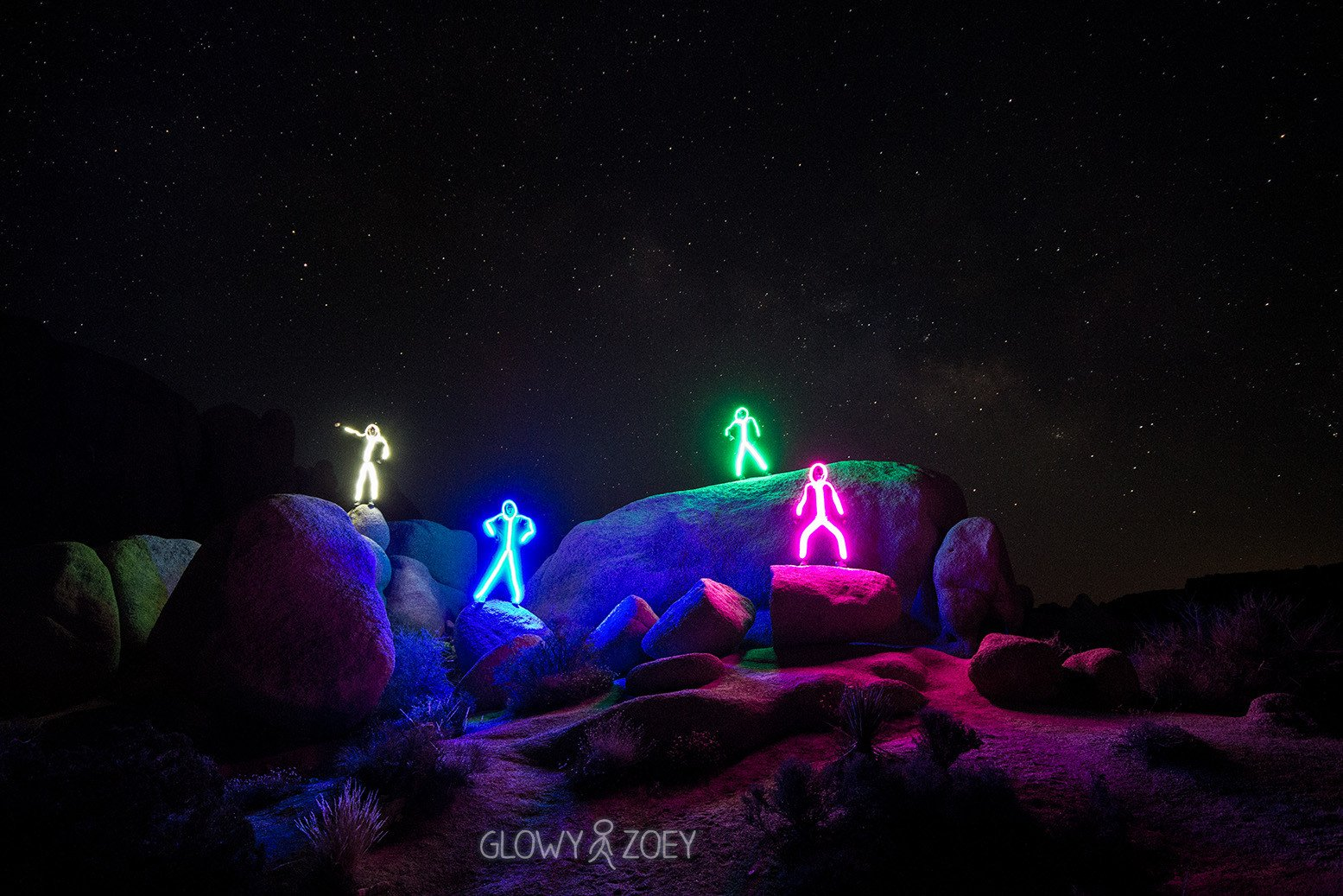 LED Stick Figure Halloween Costumes Group