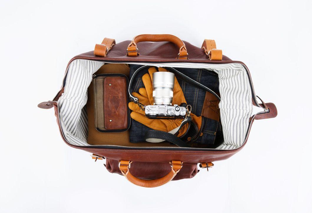 Roamographer – An American Bison Leather Duffle Bag
