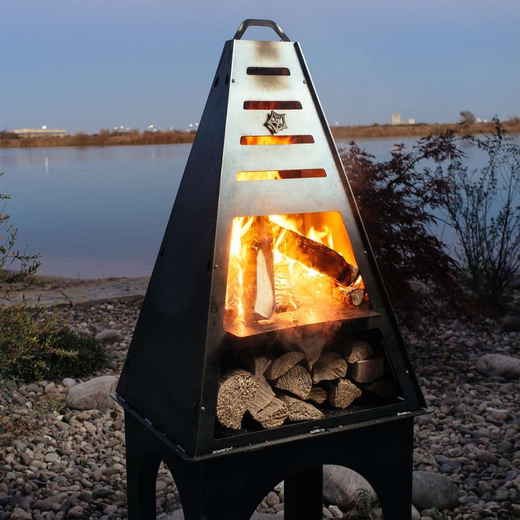 The Blaze Tower is the All-in-One Outdoor Fireplace You Need