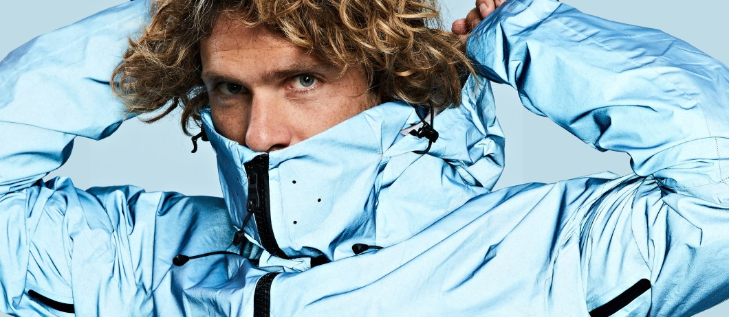 The Vollebak Blue Morpho Jacket Is Made With Glass Spheres