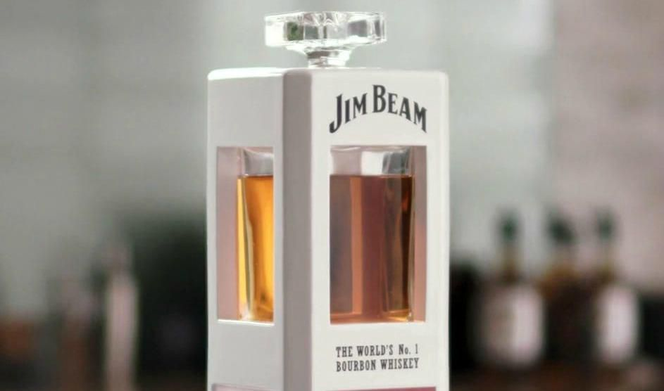 "Meet ""Jim""–Yes, a Jim Beam Smart Whiskey Decanter"