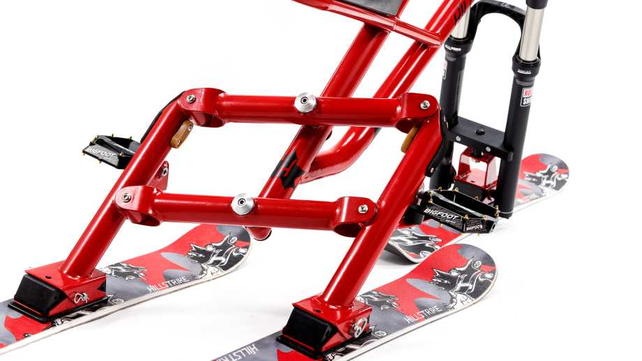 Try Shredding Some Slopes On This Hillstrike Snowstrike Rev-17 Ski-Bike