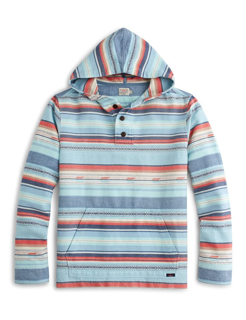 Faherty Brand Pacific Ponchos: Surf And Beach Style For Everyday