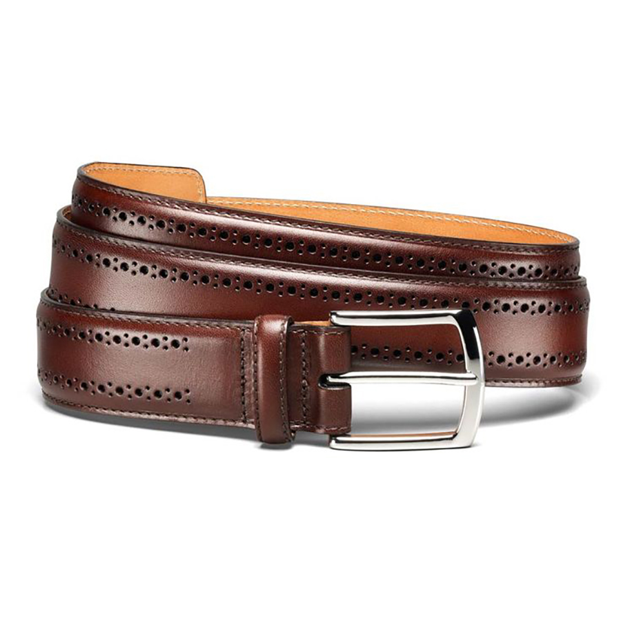 Style Break: Allen Edmonds Manistee Brogue Leather Dress Belt