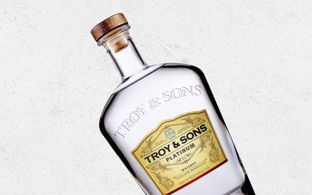 Troy and Sons Platinum: White Whiskey from Asheville Distilling