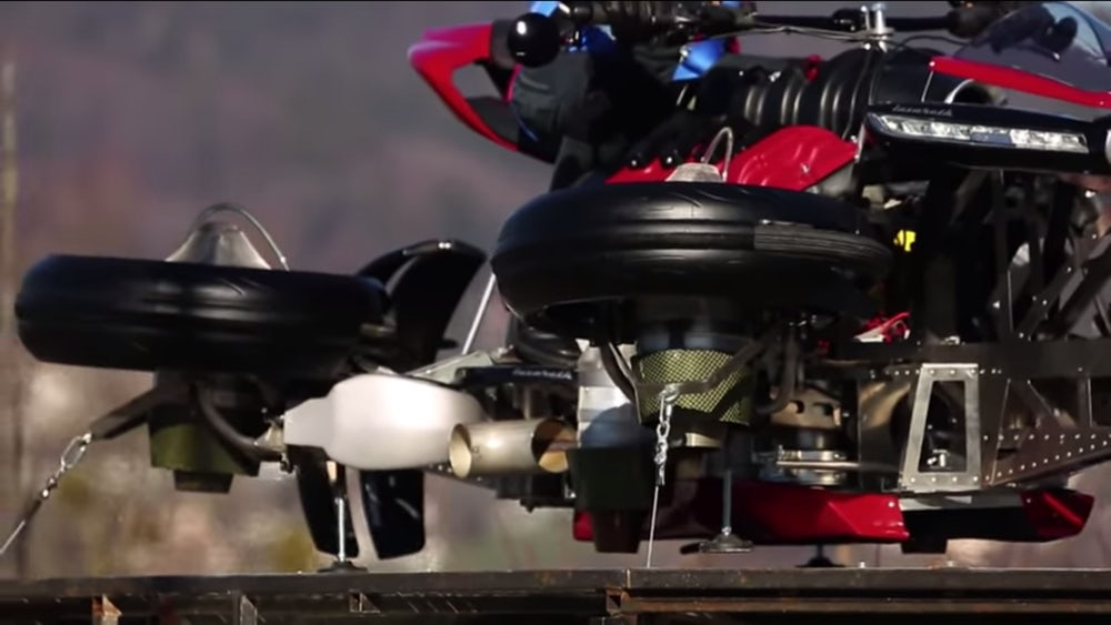 The Lazareth Flying Motorcycle is Actually Real. Sort Of.