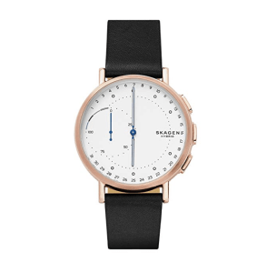 Skagen Signatur Connected Leather Hybrid Smart Watch