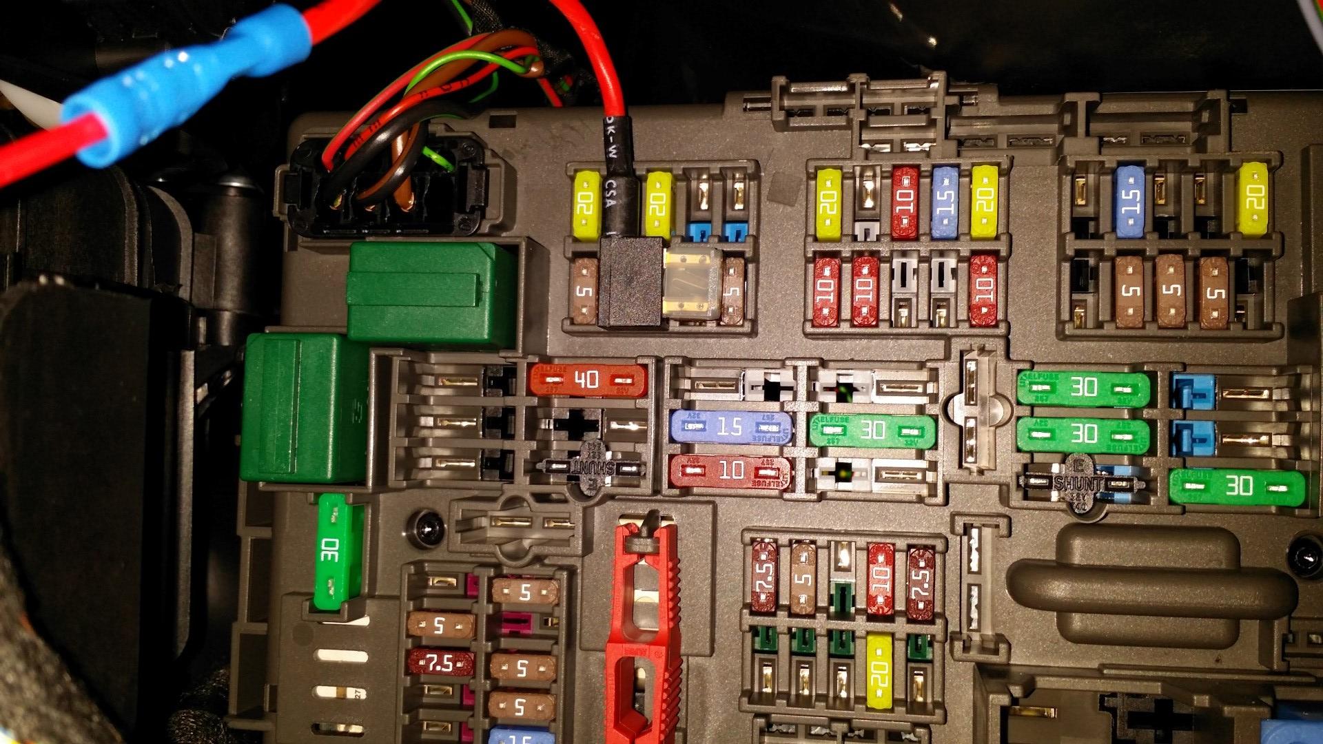 garage fuse panel diagram