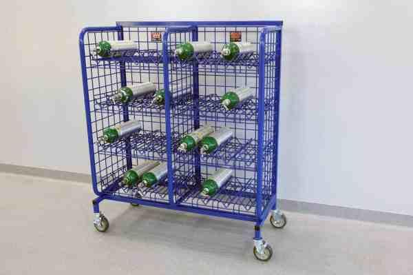 Scba Bottle Rack Mini Mobile O2 Cylinder System Geargrid