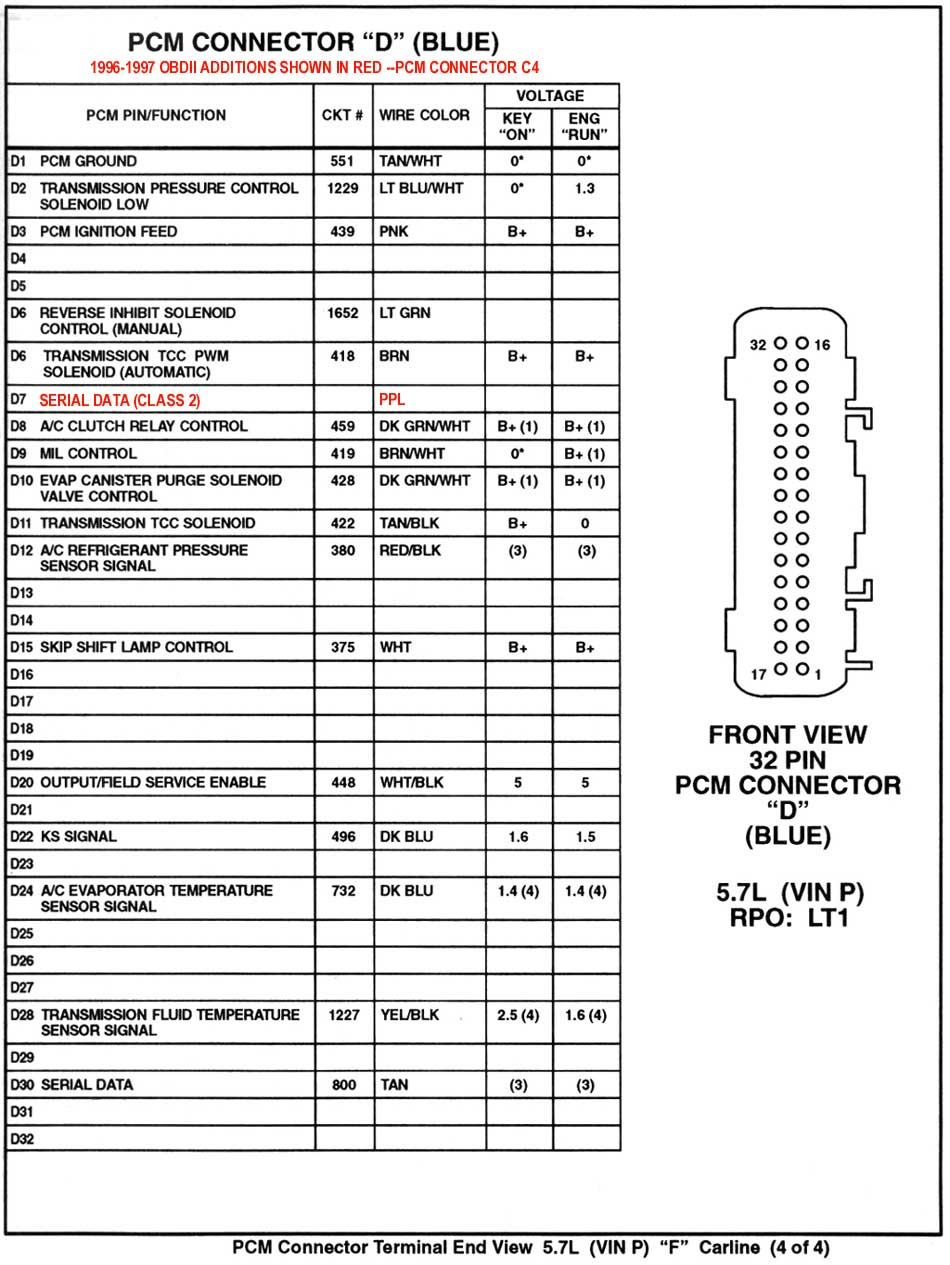 hight resolution of 1995 pcm connecter 4