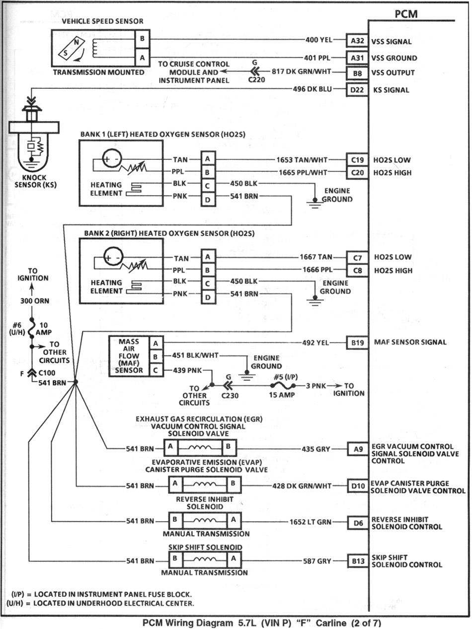 medium resolution of  1999 isuzu rodeo engine diagram 1995 pcm2