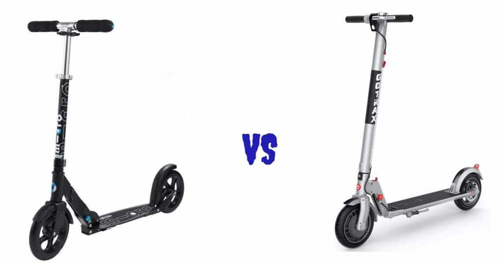 kick scooter vs electric scooter
