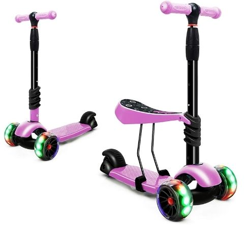 3 wheel scooter with light up wheels
