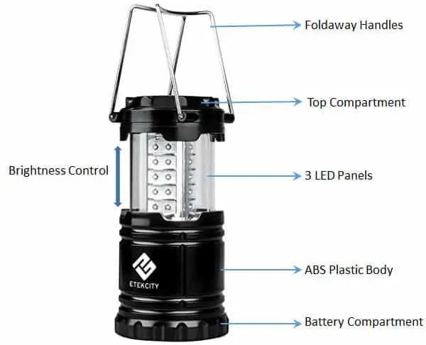 etekcity led lantern part description