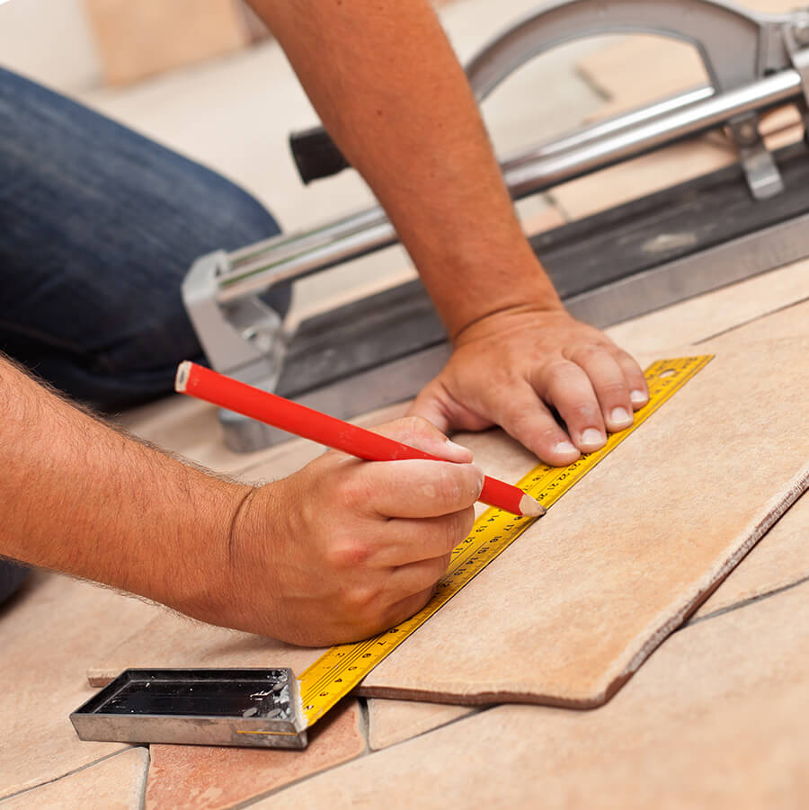 How to cut installed tile