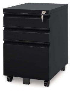 DEVAISE 3 Drawer Metal File Cabinet