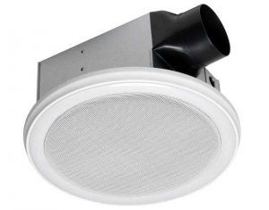 HOMEWERKS WORLDWIDE Bluetooth Bath Fan & Speaker with LED Light