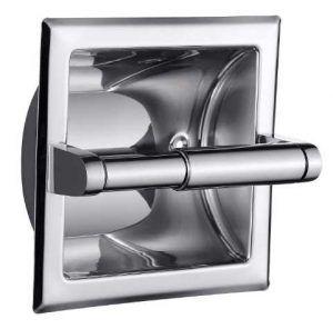 Smack Polished Chrome Recessed Toilet Paper Holder