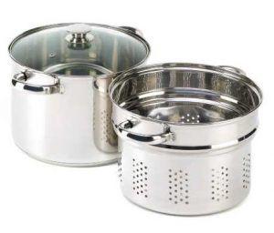VERDUGO GIFT Stainless Pasta Cooker Stock Pot
