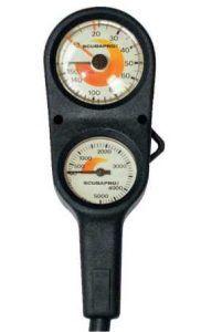Scubapro 2 Gauge console Pressure /& Depth Gauges