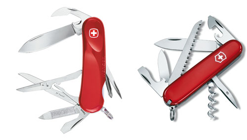 How are swiss knives made?