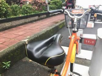 一夜大雨後,Youbike的椅墊還是乾乾的,隨時可以安心上車