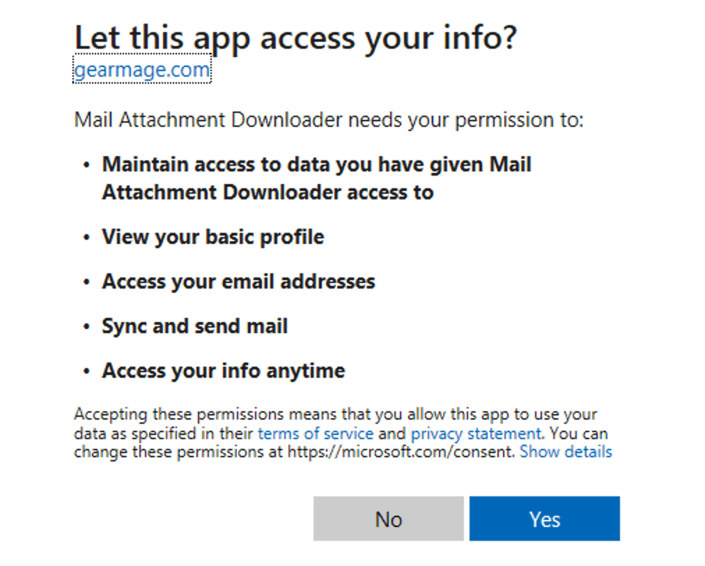 Support for Microsoft authentication in Outlook-IMAP and Exchange