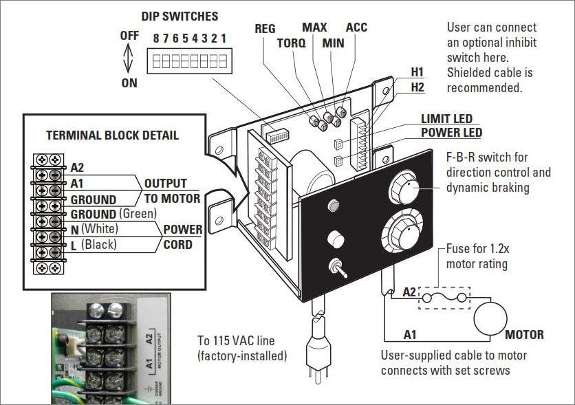 bodine dc motor wiring diagram