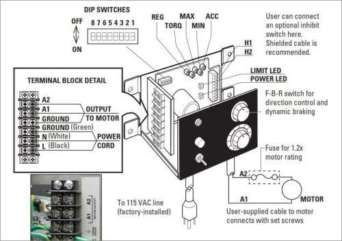 Ac Reversing Switch Wiring Diagram New Dc Motor Speed Control With Dynamic Braking Bodine