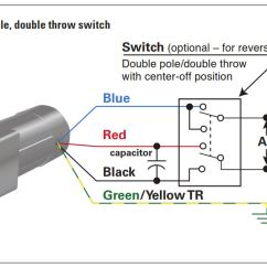 Double Switch Wiring Diagram Light Honda S2000 Ecu How To Connect A Reversing 3 Or 4 Wire Psc Gearmotor Example 2 The Pole Throw