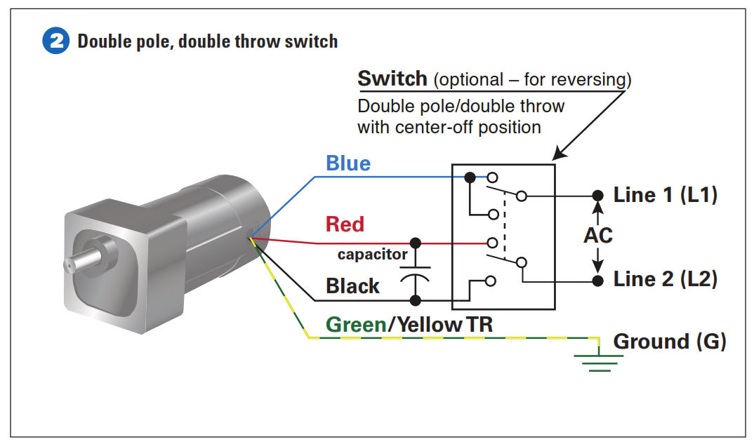 6 lead single phase motor wiring diagram lennox t90 thermostat how to connect a reversing switch 3- or 4-wire (psc) gearmotor | bodine electric blog