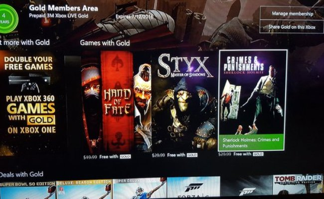 March S Xbox Live Games With Gold Lineup Leaked Report