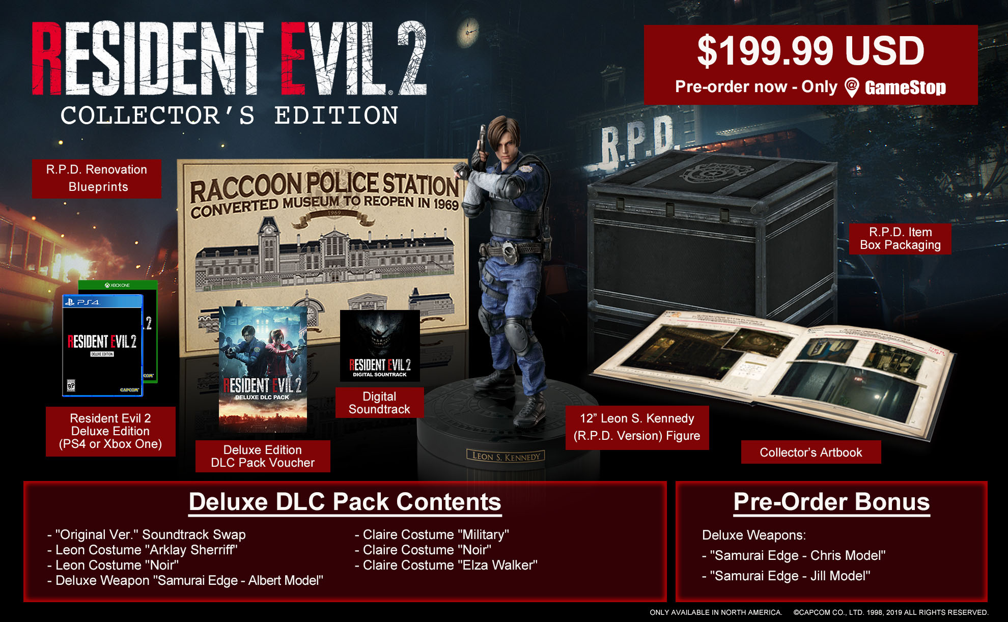 Resident Evil 2 Collectors Edition Announced Will Cost 199