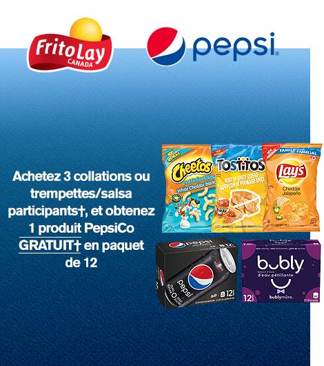 Obtenez 1 gratuit† PepsiCo PQT de 12†