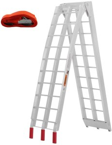 VIVOHOME 750 Lbs Capacity 7.5 Feet Aluminum Folding