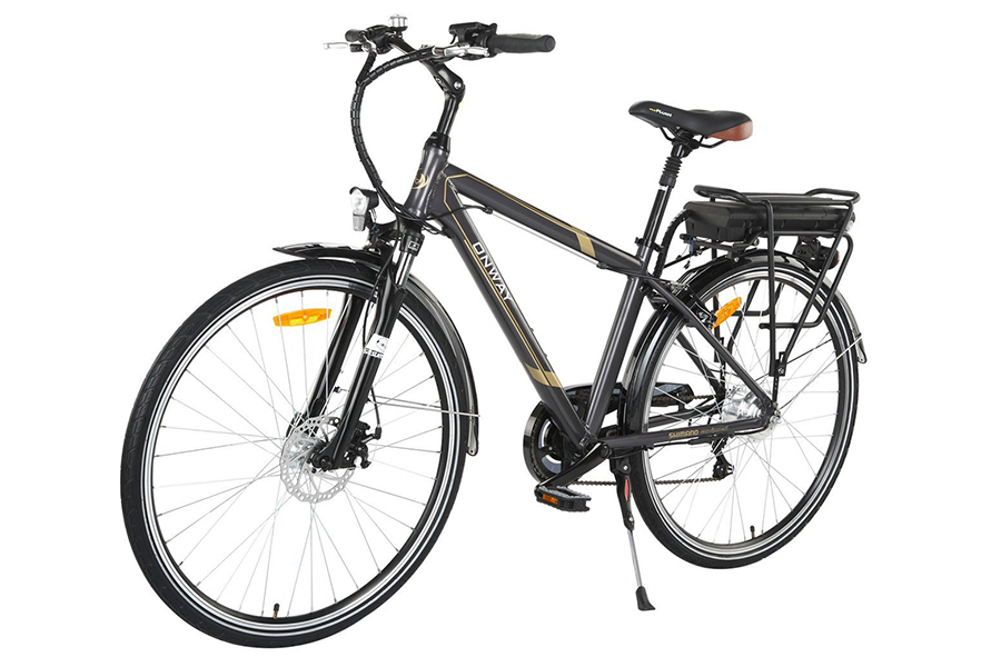 Onway 6 Speed 700C Man City Electric Bicycle, 6061