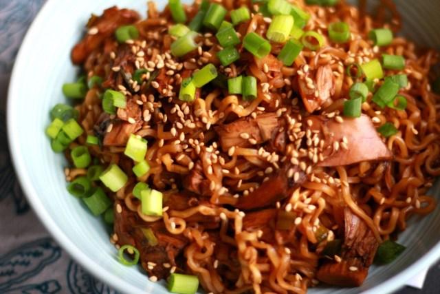 Chicken Teriyaki Ramen Noodle Bowl