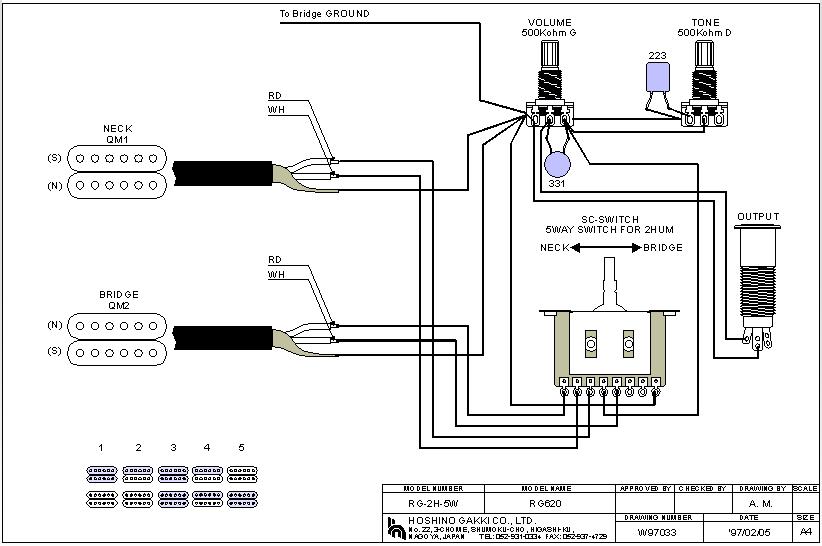 Reverse Phase Wiring Diagram 2 Humbuckers. . Wiring Diagram