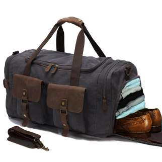 Best Carry On Duffel Bags canvas and leather