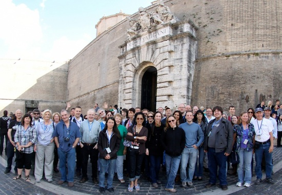 Photo of group in front of Vatican