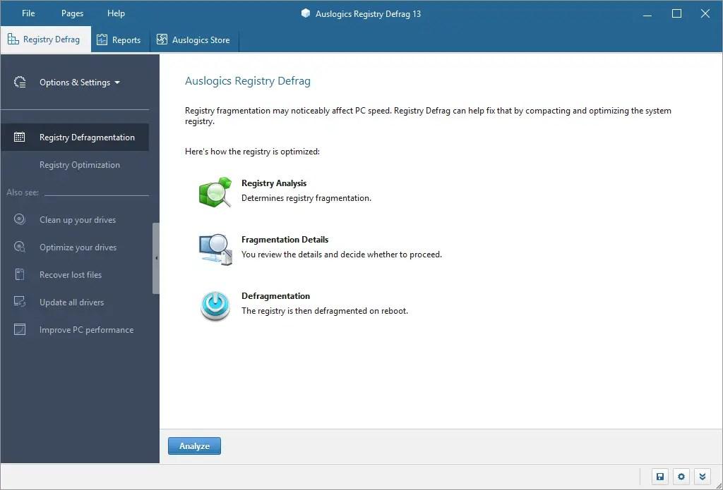 Auslogics Registry Defrag: Safely Compact Windows 10/8/7 Registry