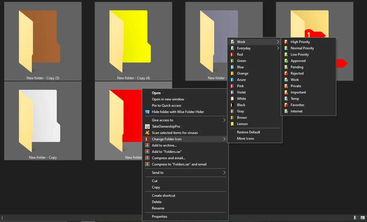 Modify your Windows 10 Folders by Coloring them using Shedko FolderIco