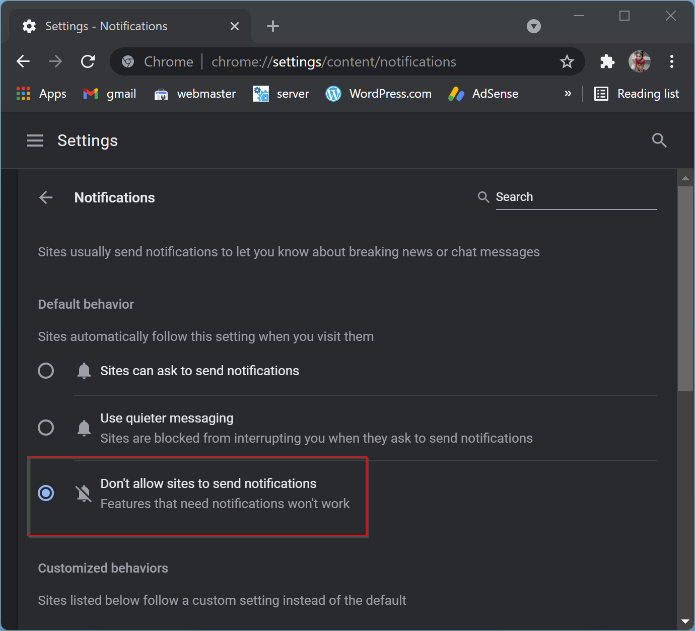 How to Turn Off Google Chrome Notifications on Windows 11/10?